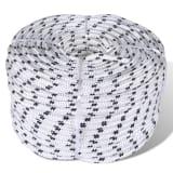 vidaXL Splétané lodní lano z polyesteru 8 mm 250 m bílé