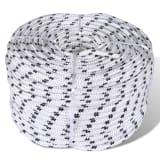 vidaXL Braided Boat Rope Polyester 10 mm 250 m White