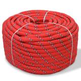vidaXL Boot touw 16 mm 50 m polypropyleen rood