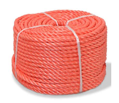vidaXL Cuerda torcida de polipropileno 12 mm 250 m naranja[1/2]