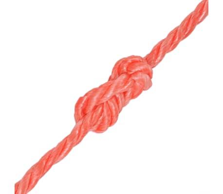 vidaXL Cuerda torcida de polipropileno 12 mm 250 m naranja[2/2]