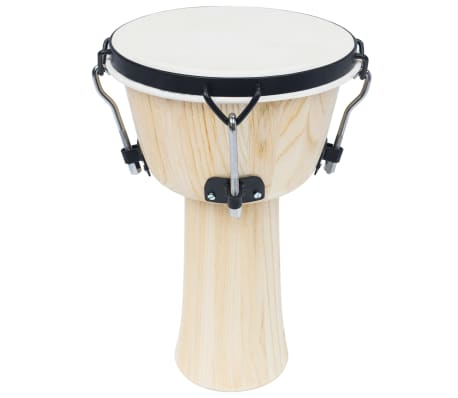 vidaXL Djembe Drum with Rod Tension 25 cm Goat Skin