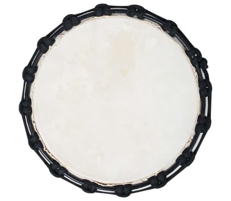 vidaXL Tambour djembé avec tension de corde 25 cm Cuir de chèvre[3/4]