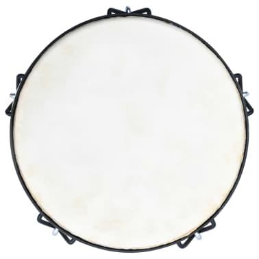 """vidaXL Bęben djembe z naciągiem śrubowym, 12"""", skóra kozia[3/4]"""