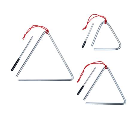 vidaXL Ensemble de triangles 3 pcs Acier inoxydable