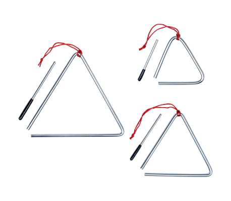 vidaXL Triangle Set 3 pcs Stainless Steel