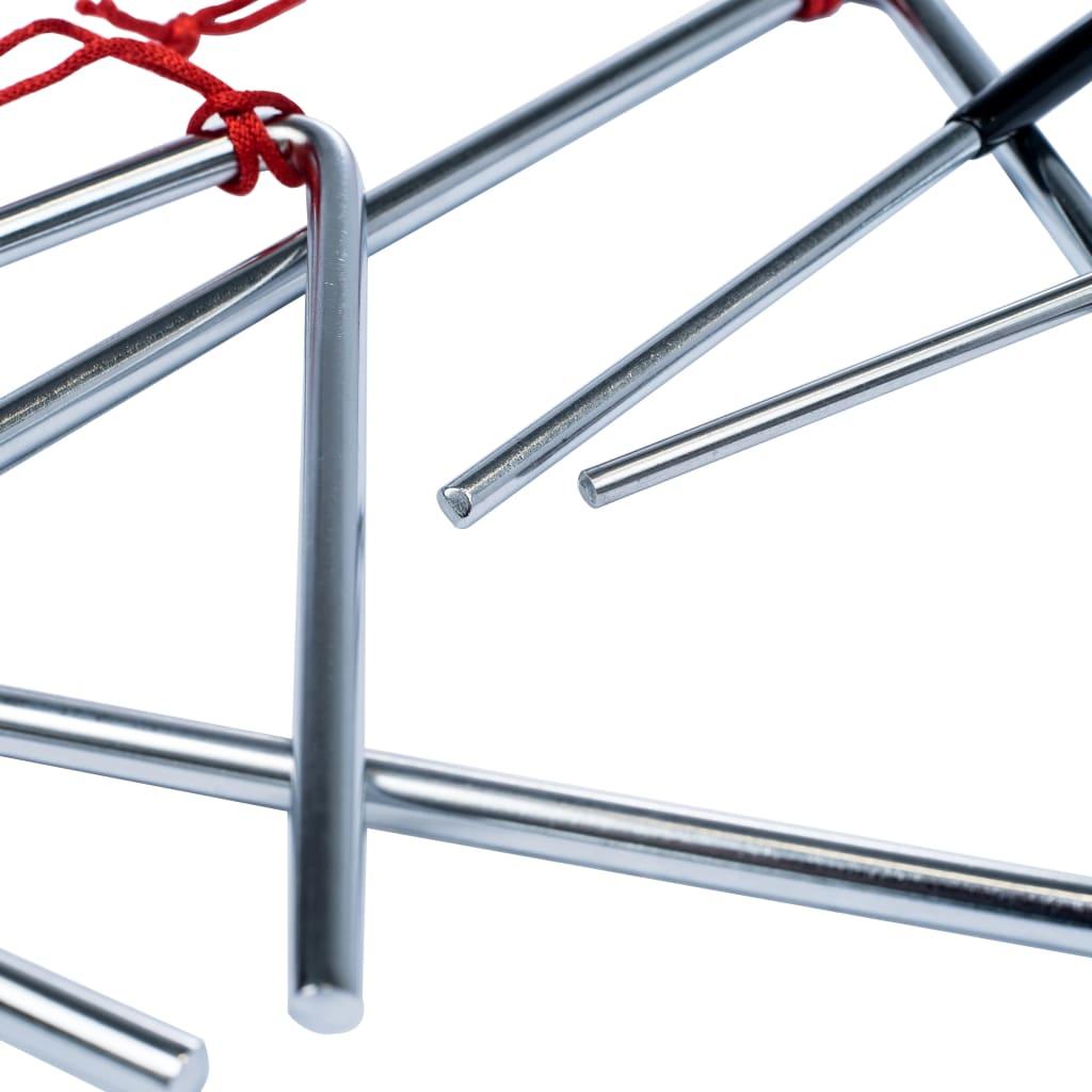 vidaXL 3-delige Triangelset roestvrij staal