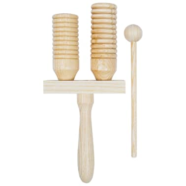 vidaXL Zestaw drewnianych dzwonków agogo, 3 szt.[3/4]