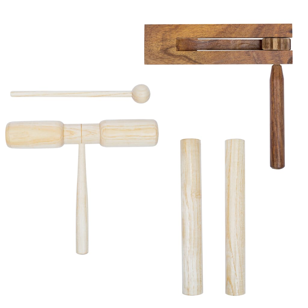 vidaXL 3dílná perkusní sada dřevěná