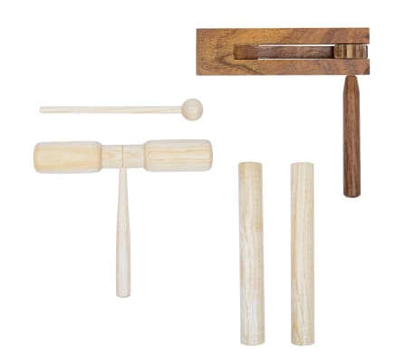 vidaXL 3 Piece Percussion Set Wood