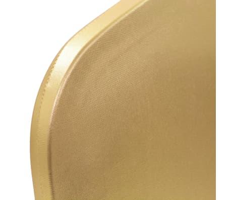 vidaXL Fundas de silla elásticas 6 unidades doradas[4/5]
