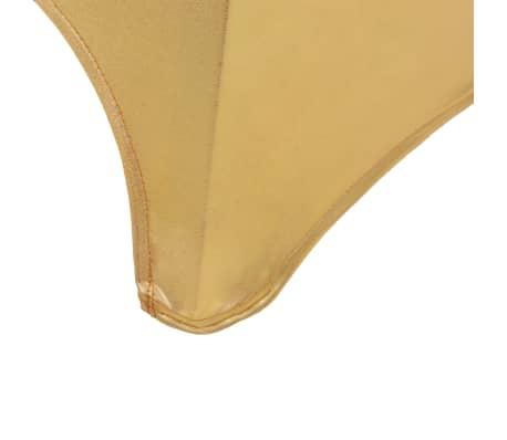 vidaXL Fundas de silla elásticas 6 unidades doradas[5/5]