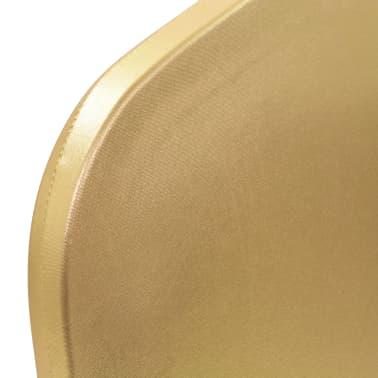 vidaXL Huse elastice pentru scaun, 6 buc., auriu[4/5]