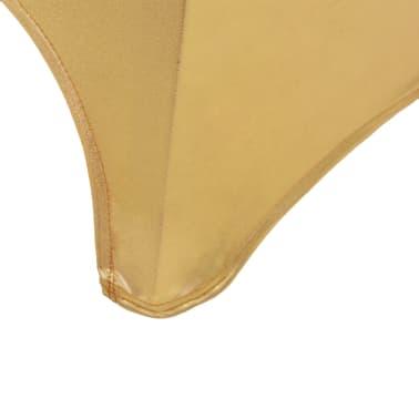 vidaXL Huse elastice pentru scaun, 6 buc., auriu[5/5]