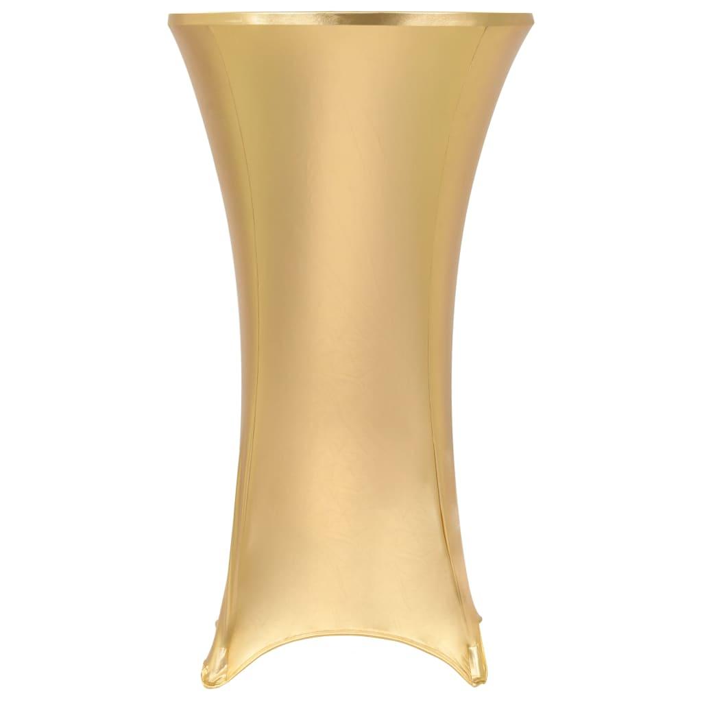 vidaXL Huse elastice de masă, 2 buc., auriu, 60 cm poza 2021 vidaXL
