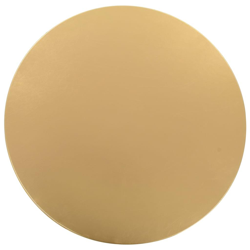 vidaXL 2 ks Elastické návleky na stůl zlaté 80 cm
