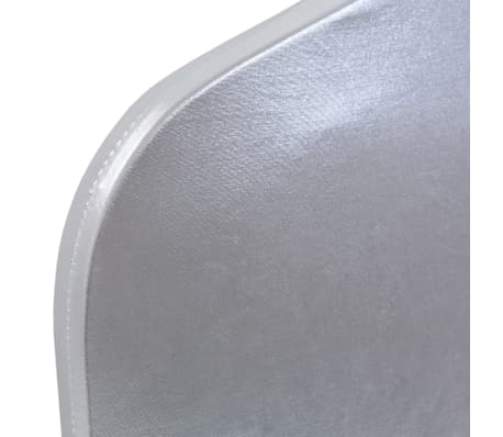 vidaXL Housses extensibles de chaise 6 pcs Argenté[4/5]