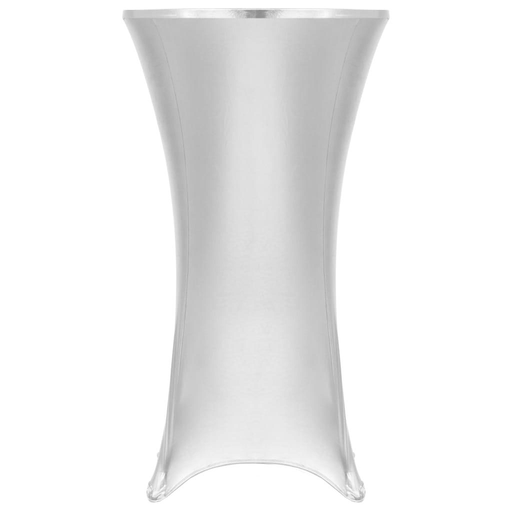 2 ks Elastické návleky na stůl stříbrné 60 cm