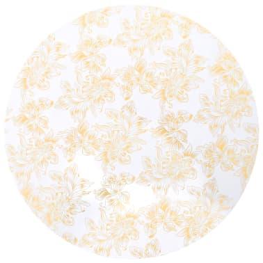 vidaXL Καλύμματα Τραπεζιού Ελαστικά 2 τεμ. Λευκά με Χρυσό Τύπωμα 80 εκ[2/4]