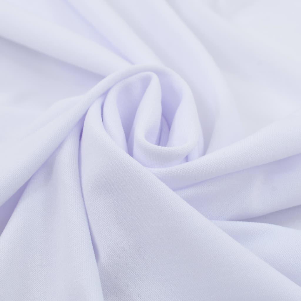 vidaXL Rautové sukně s řasením 2 ks bílé 150 x 74 cm