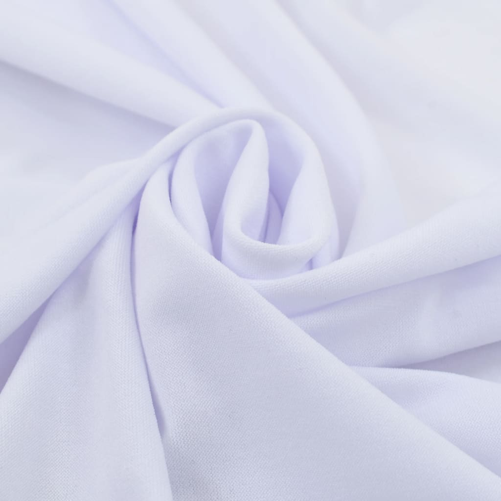vidaXL Rautové sukně s řasením 2 ks bílé 180 x 74 cm