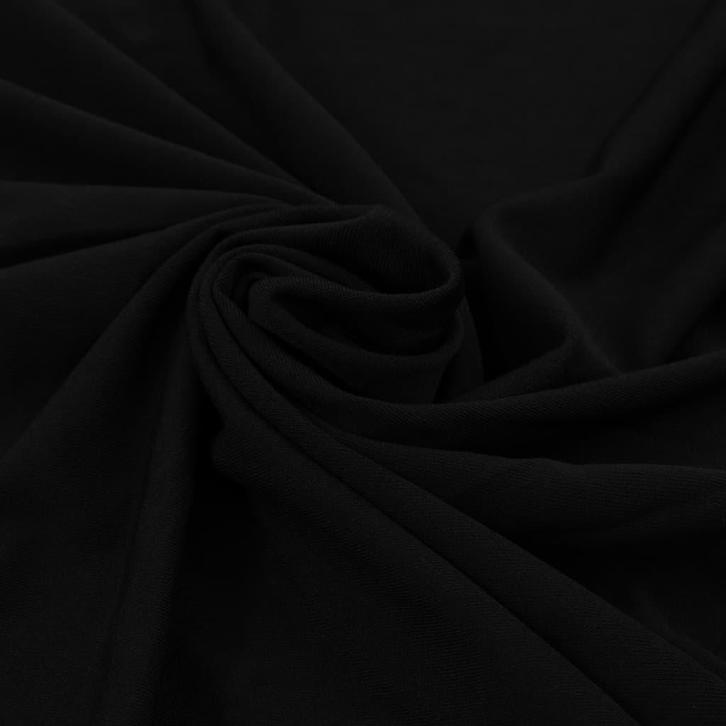 vidaXL Rautové sukně s řasením 2 ks černé 120 x 74 cm