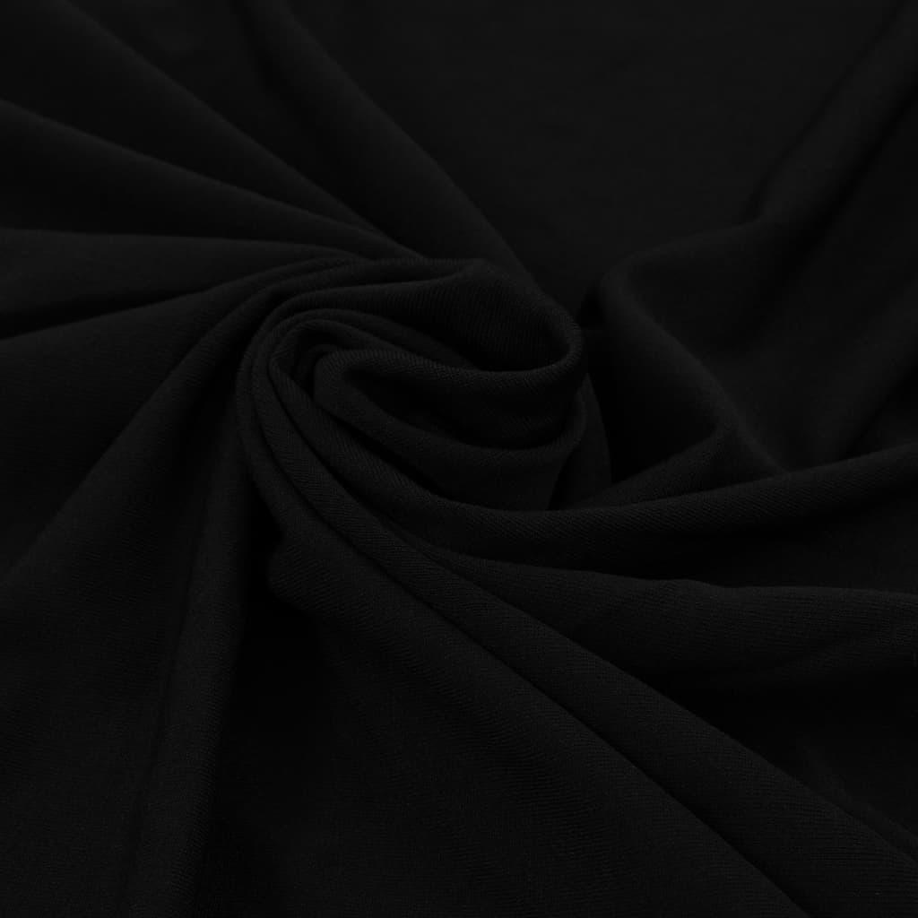 vidaXL Rautové sukně s řasením 2 ks černé 180 x 74 cm