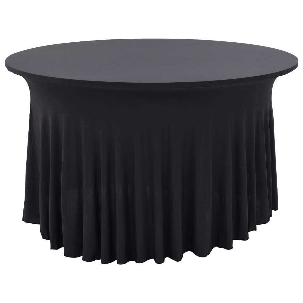 999133593 2 Stück Stretch-Tischdecken mit Rand Anthrazit 120 x 74 cm