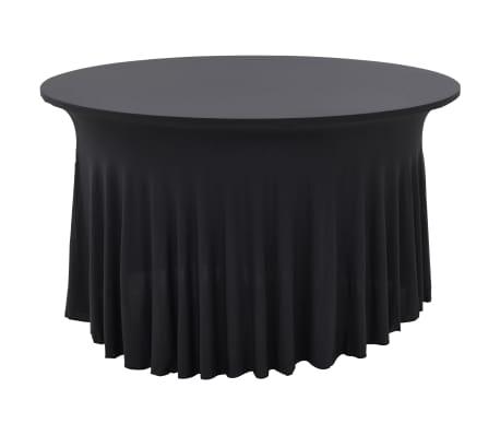 vidaXL Fundas elásticas para mesa 2 uds con falda 180x74 cm gris