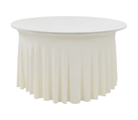 vidaXL 2 pcs Stretch Table Covers with Skirt 150x74 cm Cream