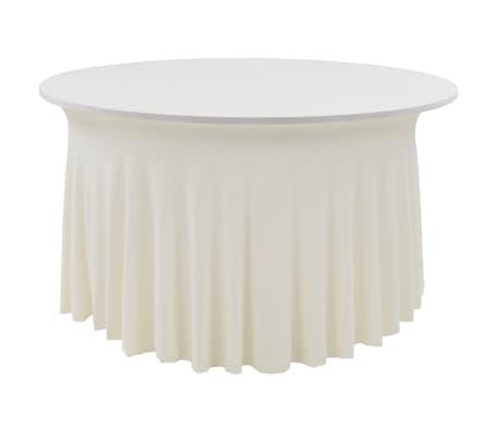 vidaXL Fundas elásticas para mesa 2 uds con falda 180x74 cm crema