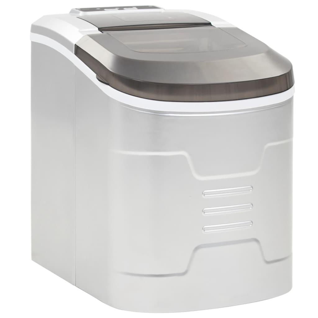 Výrobník ledových kostek 2,4 l stříbrný 15 kg/24 h