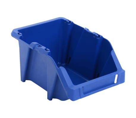 vidaXL Stohovateľné úložné boxy 150 ks, 125x195x90 mm, modré[5/8]