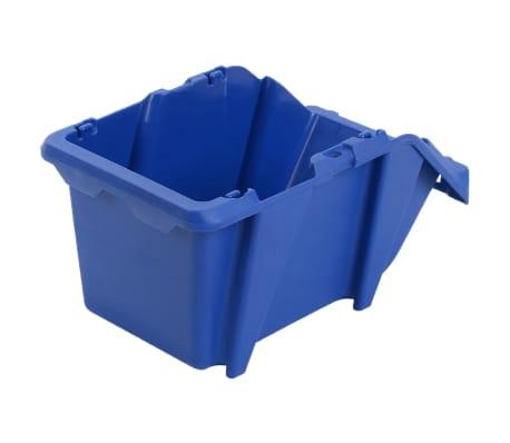 vidaXL Stohovateľné úložné boxy 150 ks, 125x195x90 mm, modré[6/8]