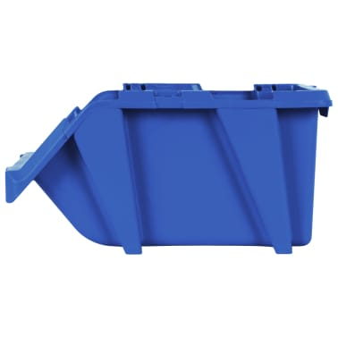 vidaXL Stohovateľné úložné boxy 150 ks, 125x195x90 mm, modré[7/8]