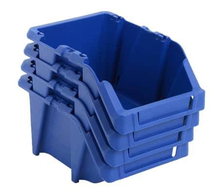 vidaXL Bac de rangement empilable 75 pcs 153 x 244 x 123 mm Bleu[2/8]