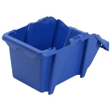 vidaXL Stapelbare Lagerboxen 75 Stk. 153 x 244 x 123 mm Blau[6/8]