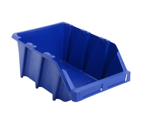 vidaXL Stapelbare Lagerboxen 20 Stk. 265 x 420 x 178 mm Blau[5/8]