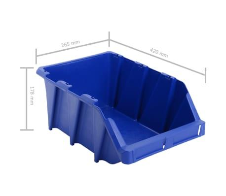 vidaXL Stapelbare Lagerboxen 20 Stk. 265 x 420 x 178 mm Blau[8/8]