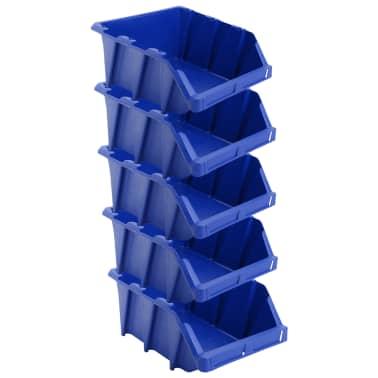 vidaXL Stapelbare Lagerboxen 20 Stk. 265 x 420 x 178 mm Blau[3/8]