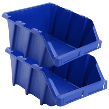 vidaXL Stapelbare Lagerboxen 20 Stk. 265 x 420 x 178 mm Blau[4/8]