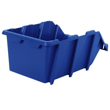 vidaXL Stapelbare Lagerboxen 20 Stk. 265 x 420 x 178 mm Blau[6/8]