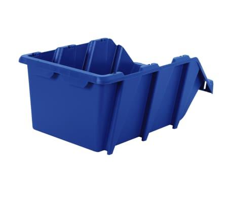 vidaXL stabelbare opbevaringskasser 15 stk. 310 x 490 x 195 mm blå[6/8]