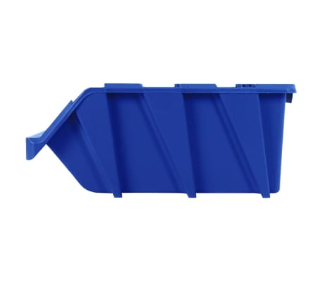 vidaXL stabelbare opbevaringskasser 15 stk. 310 x 490 x 195 mm blå[7/8]