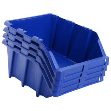 vidaXL stabelbare opbevaringskasser 15 stk. 310 x 490 x 195 mm blå[2/8]