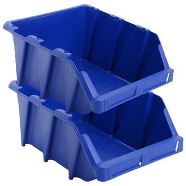 vidaXL stabelbare opbevaringskasser 15 stk. 310 x 490 x 195 mm blå[4/8]
