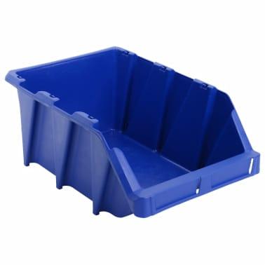 vidaXL stabelbare opbevaringskasser 15 stk. 310 x 490 x 195 mm blå[5/8]