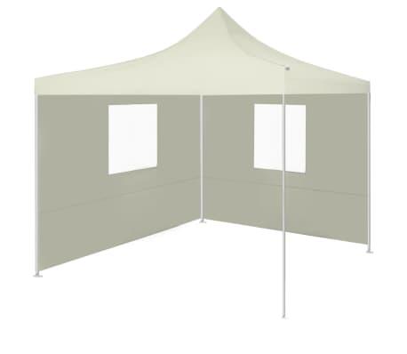 vidaXL krémszínű összecsukható sátor 2 fallal 3 x 3 méter