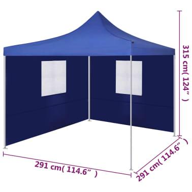 vidaXL Faltzelt mit 2 Wänden 3 x 3 m Blau[9/9]