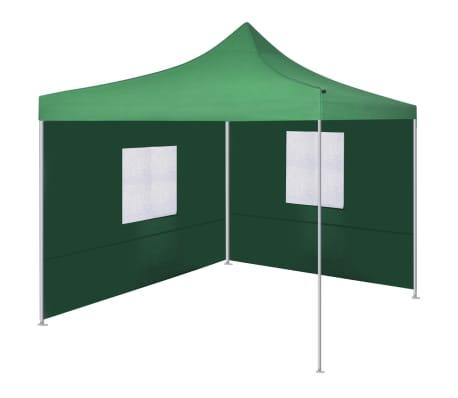 vidaXL zöld színű összecsukható sátor 2 fallal 3 x 3 méter
